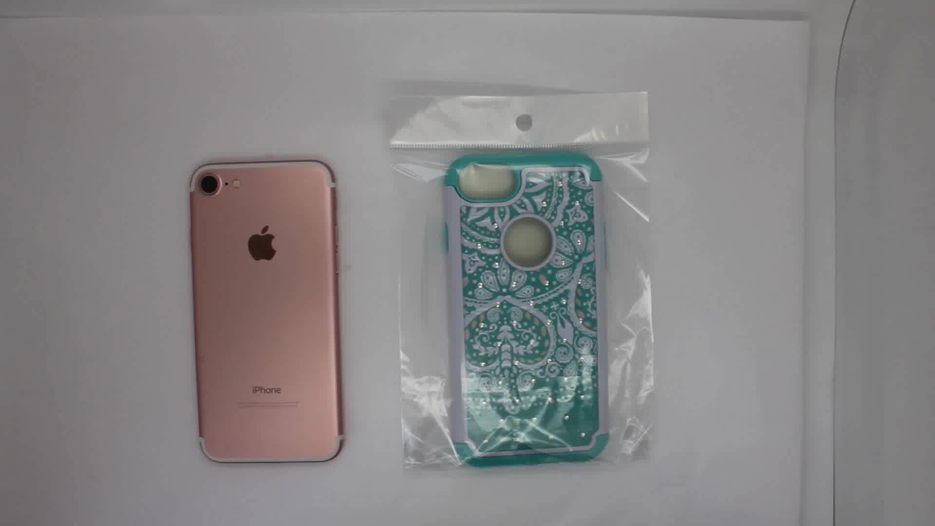 2 in 1 Bling Hybrid Telefon Fall für Ipod Touch 5/6/7, zurück Abdeckung für Ipod Touch 7th Generation