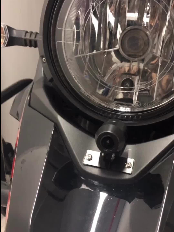 1080 1080P GPS 防水オートバイカメラ DVR モーターダッシュカムデュアルトラックフロントリアレコーダーバイクエレクトロニクス、内蔵 g センサー