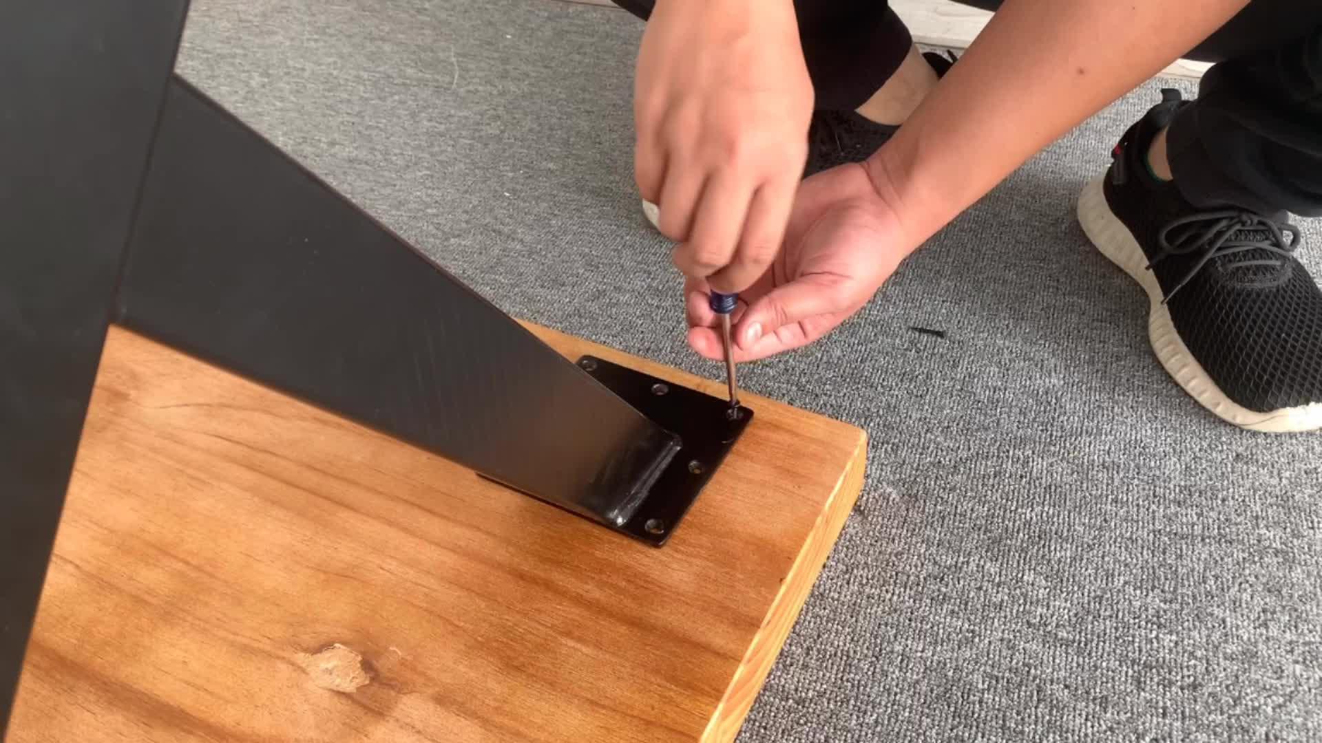 Vintage mesas de metal lateral de acero Inoxidable base de mesa de hierro forjado mesa de café piernas