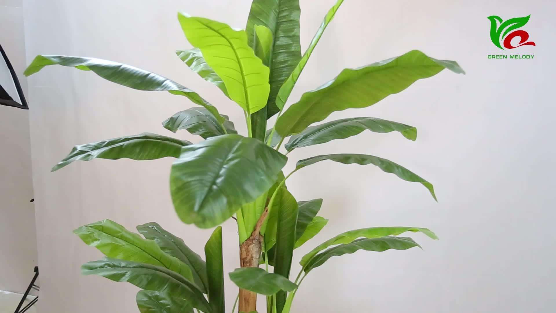 Plantes en plastique artificielles ornementales de bananier de la vraie touche 1.9m
