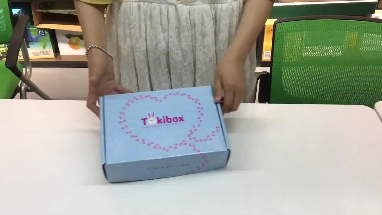 Caixa de papel preta de transporte fácil dobrável para embalagem de sapatos