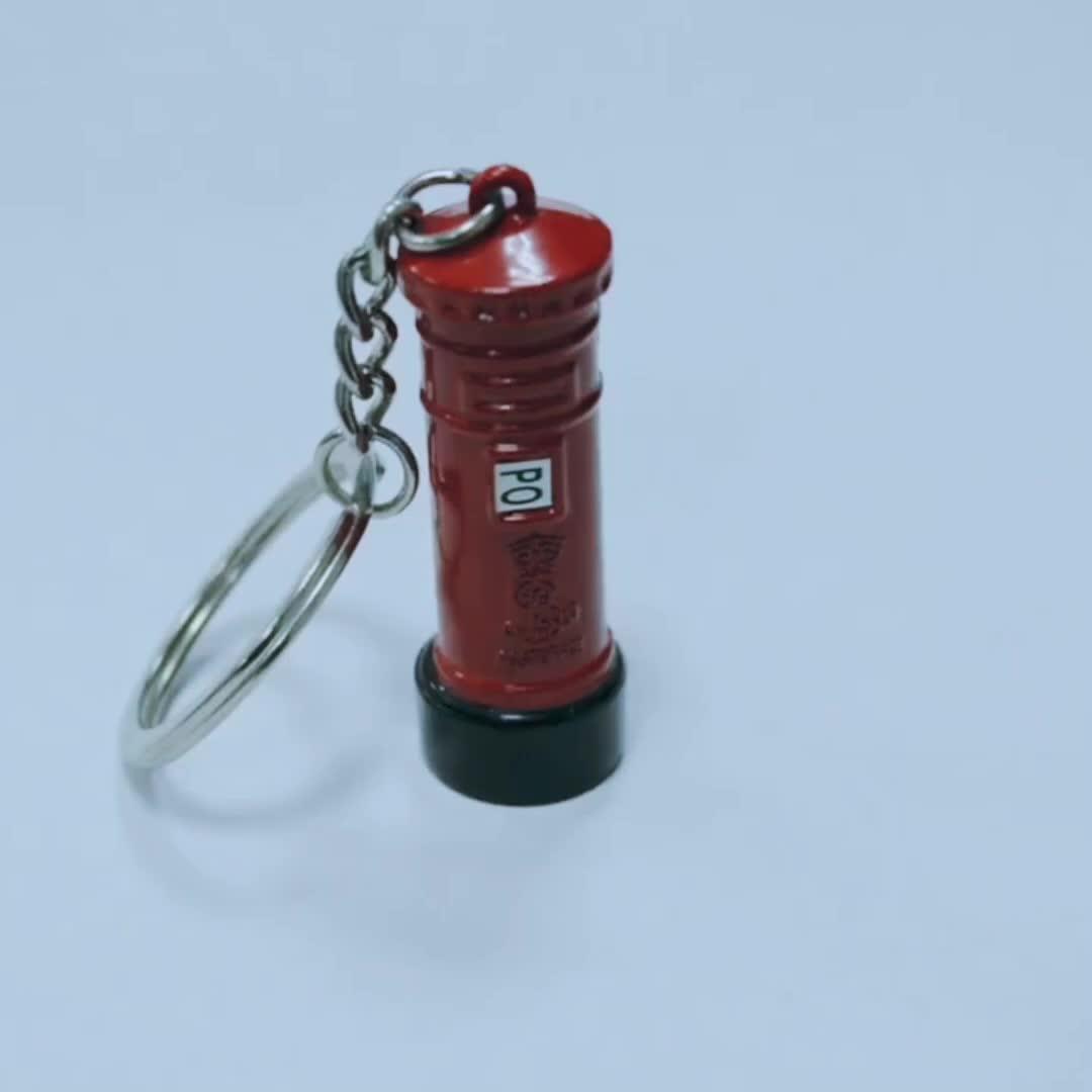 Förderung geschenk UK souvenir metall-schlüsselanhänger, england retro postfach schlüssel kette