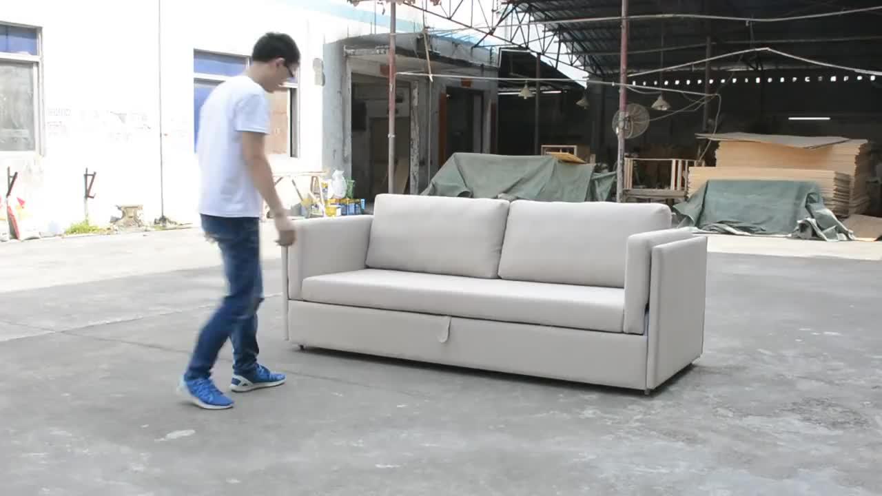 Moderna in legno massello divano set threeseat divano e nuovo disegno usato divani letto