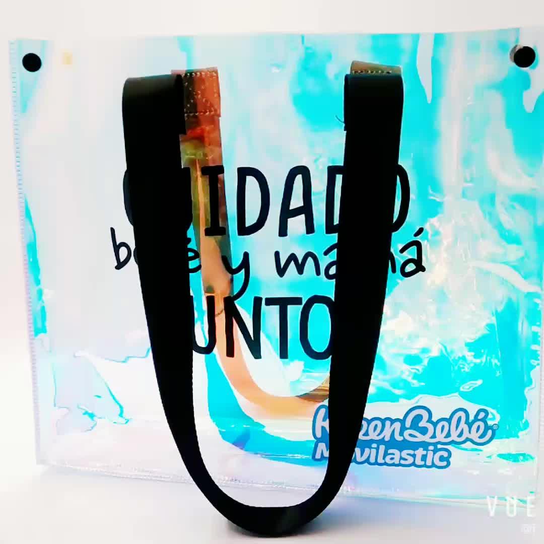 Chiaro dovrebbe sacchetto trasparente Sacchetto ologramma pvc olografica borse