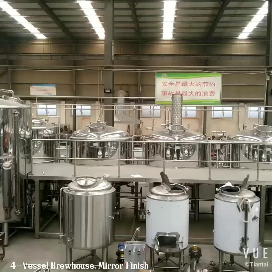 Mini bier plant 200L 300L 400L 500L 600L 800L 1000L bar brouwerij apparatuur elektrische brouwerij