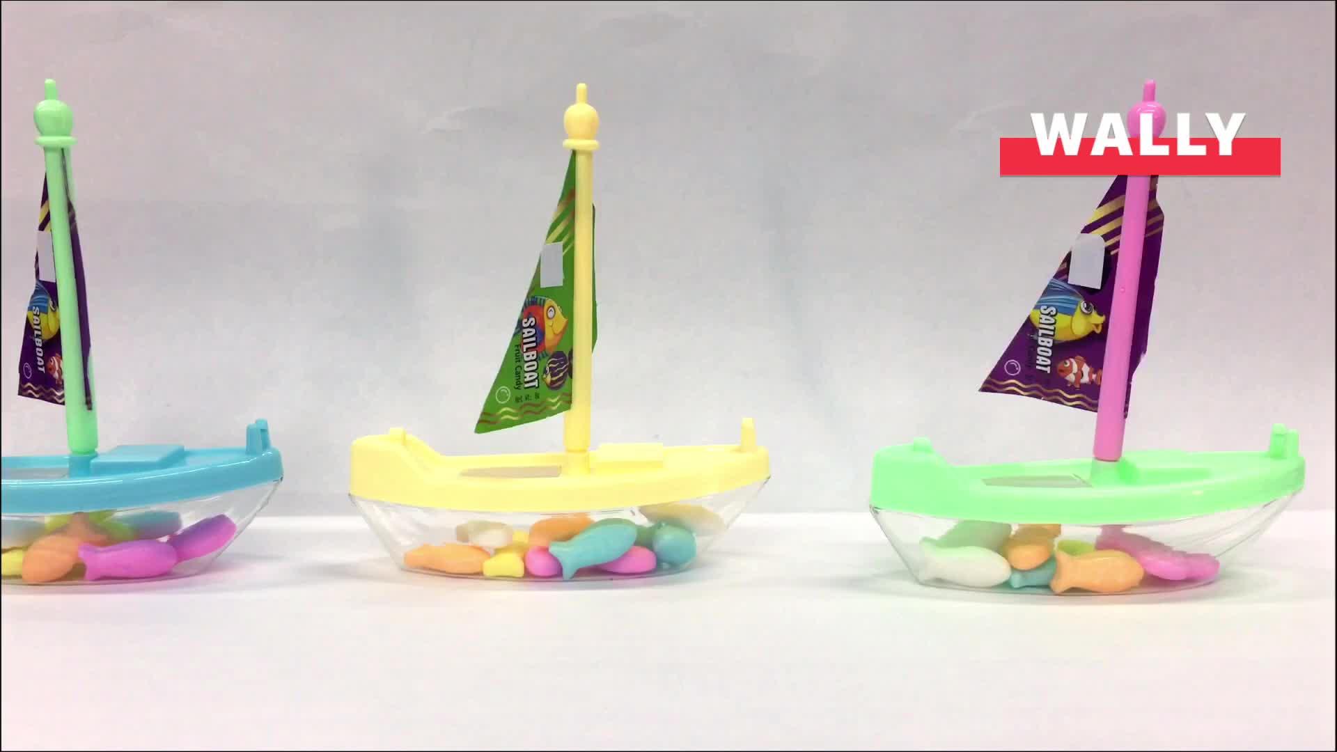 פירות קשה דחוס דגים בצורת ספינה מפרשית סוכריות