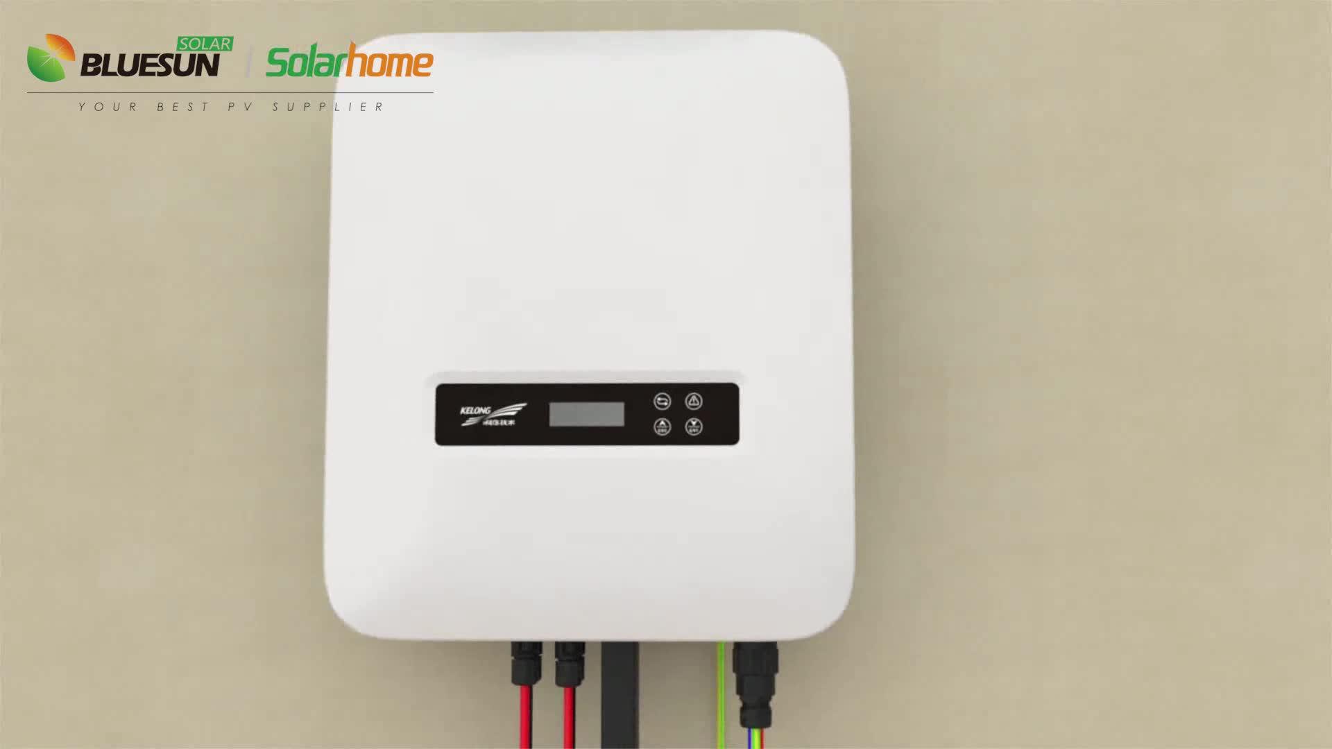 Bluesun Growatt solar power inverters on grid solar inverter DC AC 12kw 15kw 17kw 20kw solar inverter price