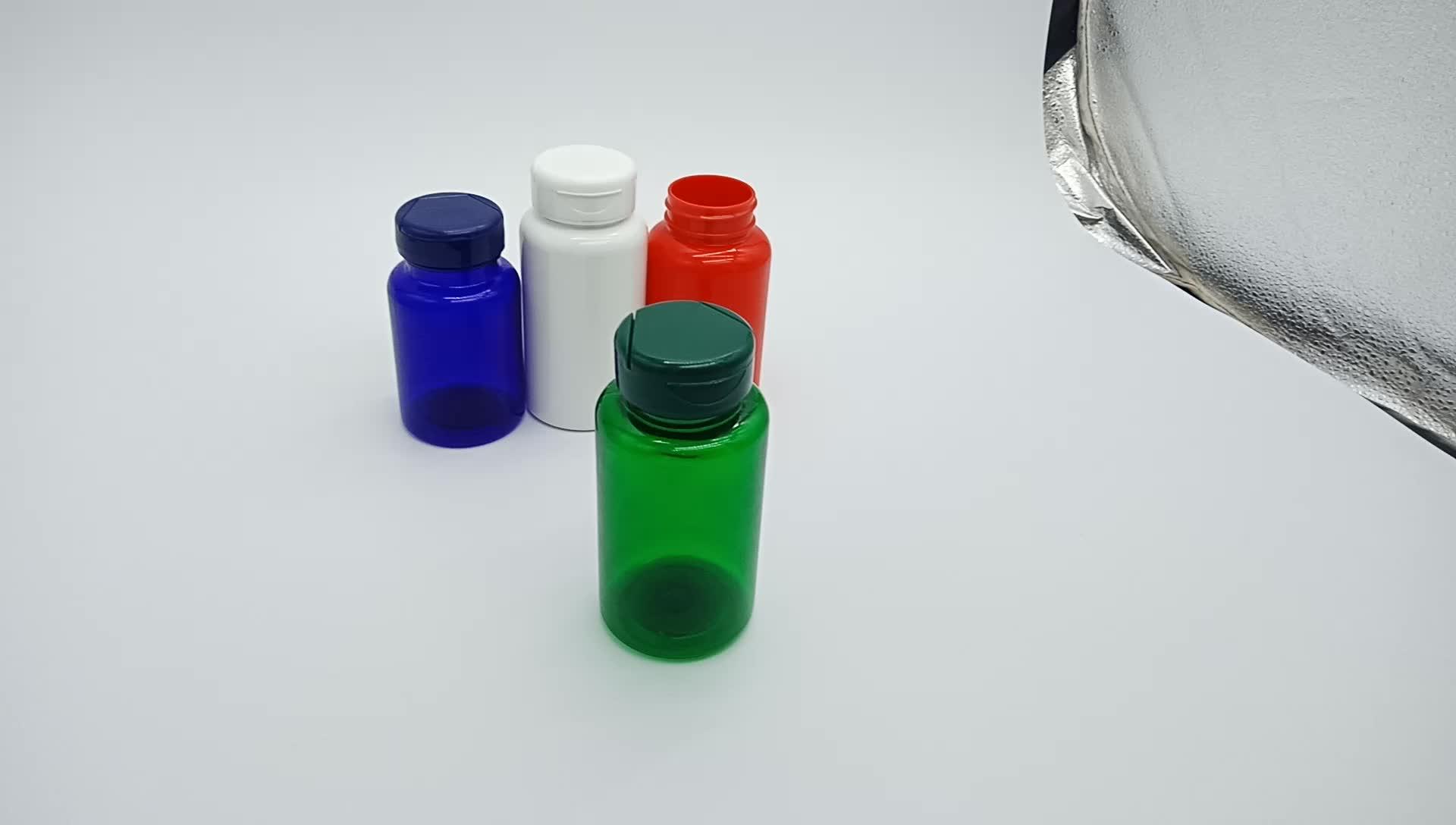 Comprimido de vitamina cápsula de garrafa PET com tampa de alumínio de 120 ml PET vazia garrafa de prescrição medicina recipiente de plástico fornecedor