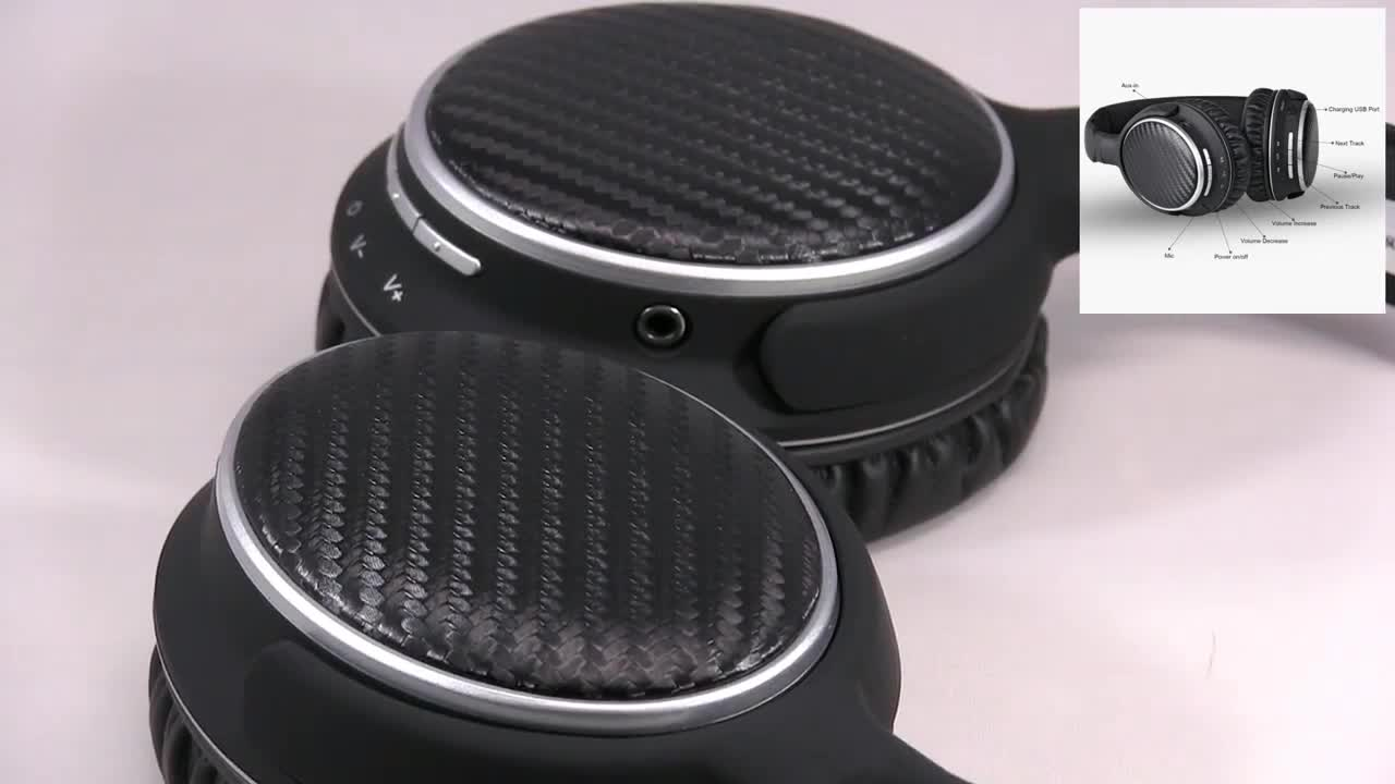 AUSDOM Mixcder HOT Over Ear Multiple Languages Carbon Fibre Apt-X HiFi CD-Like Sound Powerful Bass Wireless Headphones With Mic