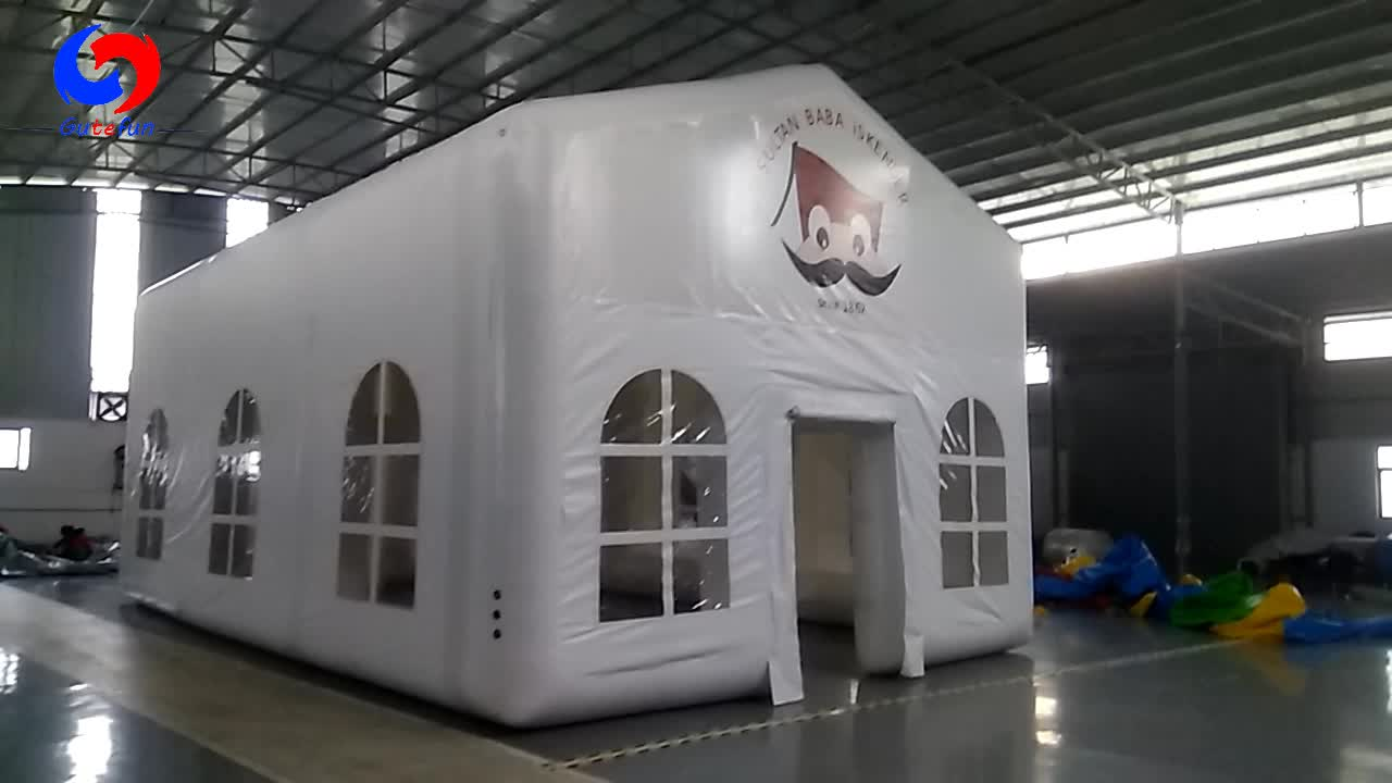 10m L*6m W*3m H airtight outdoor party event inflatable restaurant tents for sale