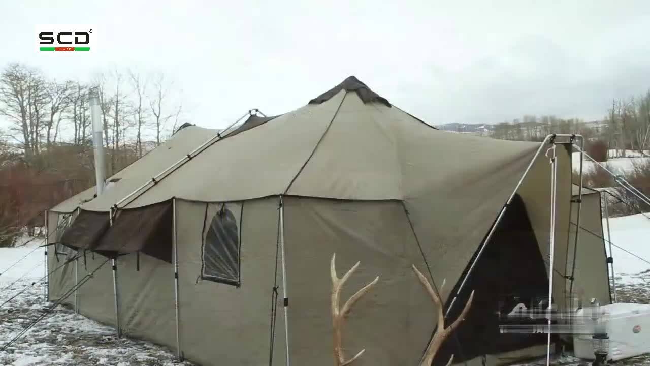 Steel Pole Army Green Tactical Military Tent Canvas Tent in different size