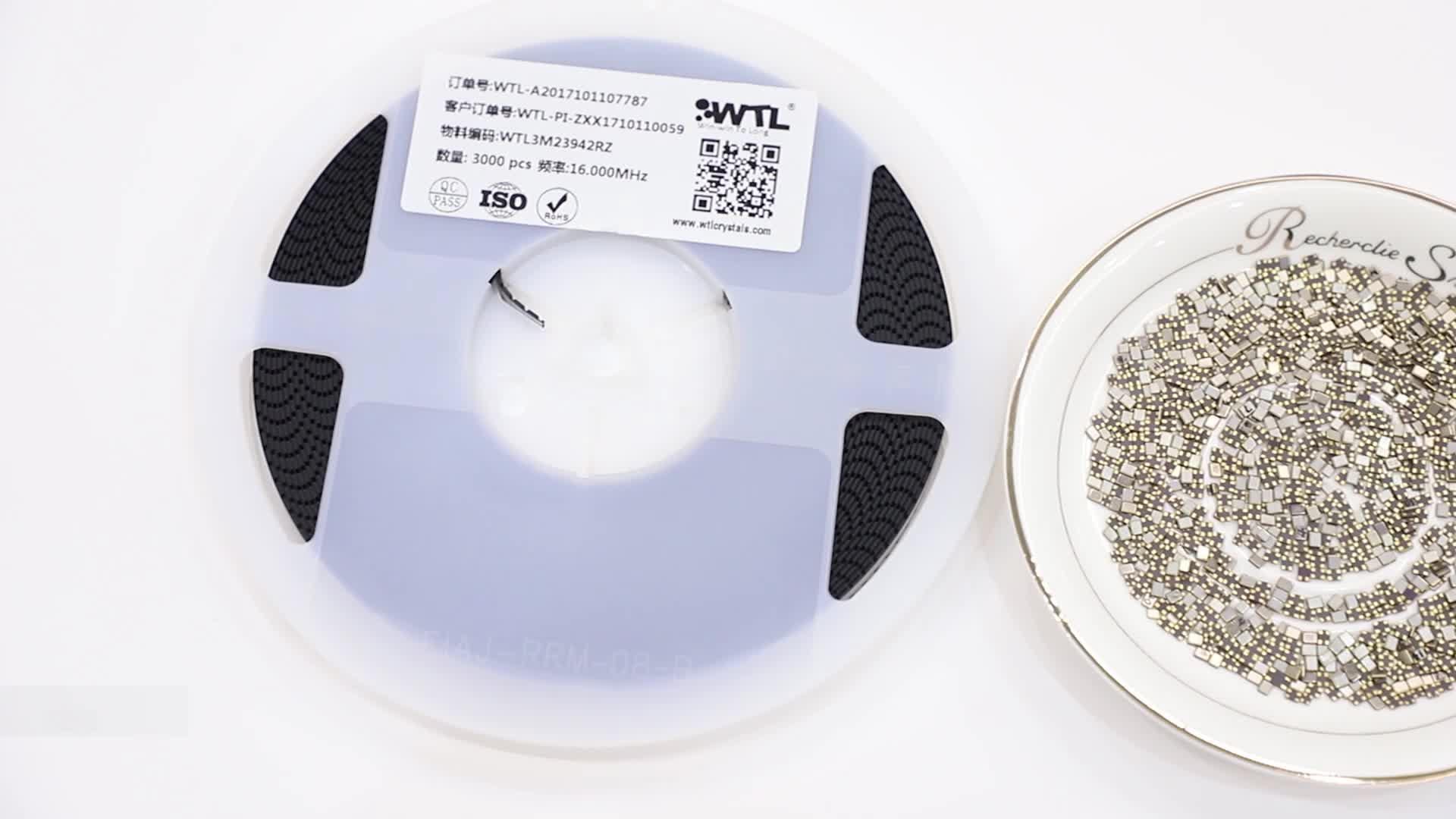 Free Sample WTL 7050 Crystal OSC XO 25.0008MHz 20ppm 3.3V CMOS SMD Oscillator