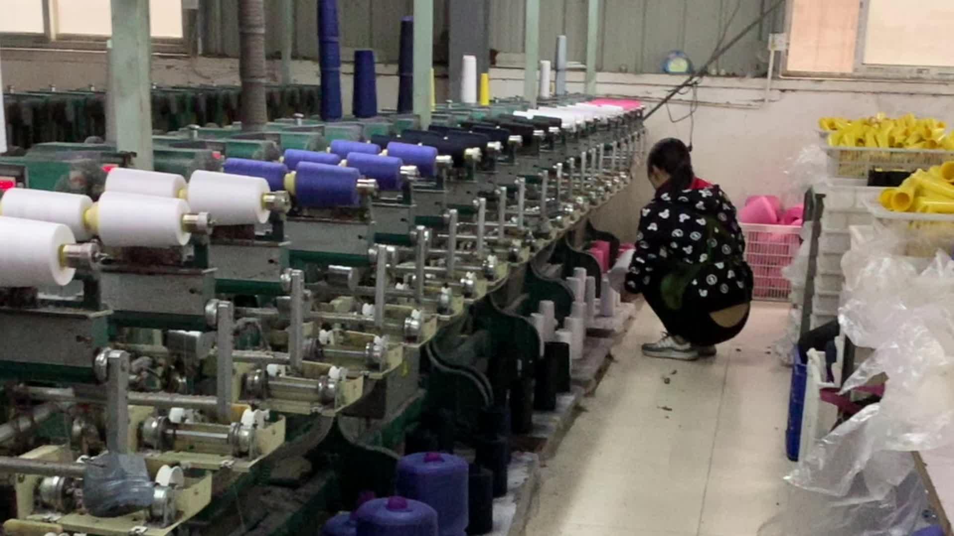 Custom sewing thread 30/1 polyester hank yarn with stock