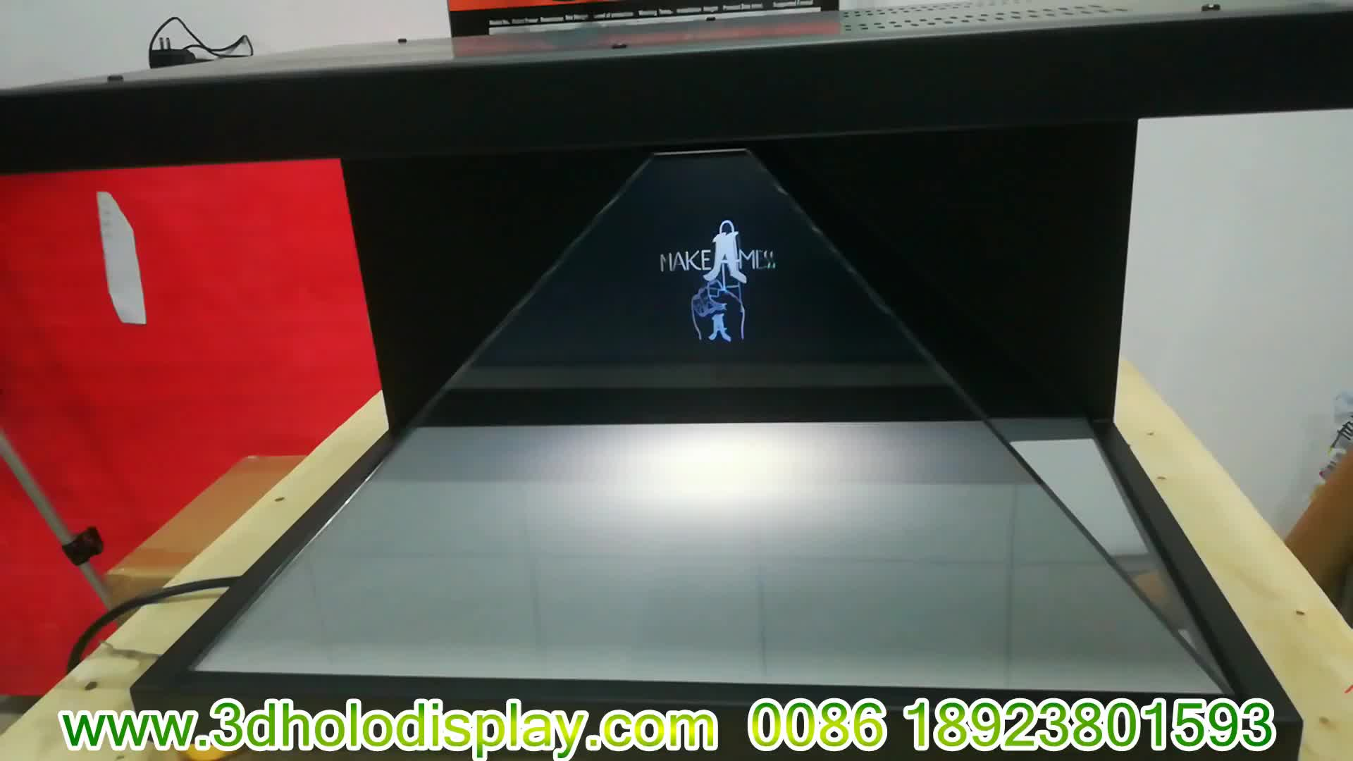 Professional Maker 3d Hologram Projector Pyramid Showcase Holographic  Display - Buy 3d Hologram Pyramid,3d Hologram Projector,Hologram Projector