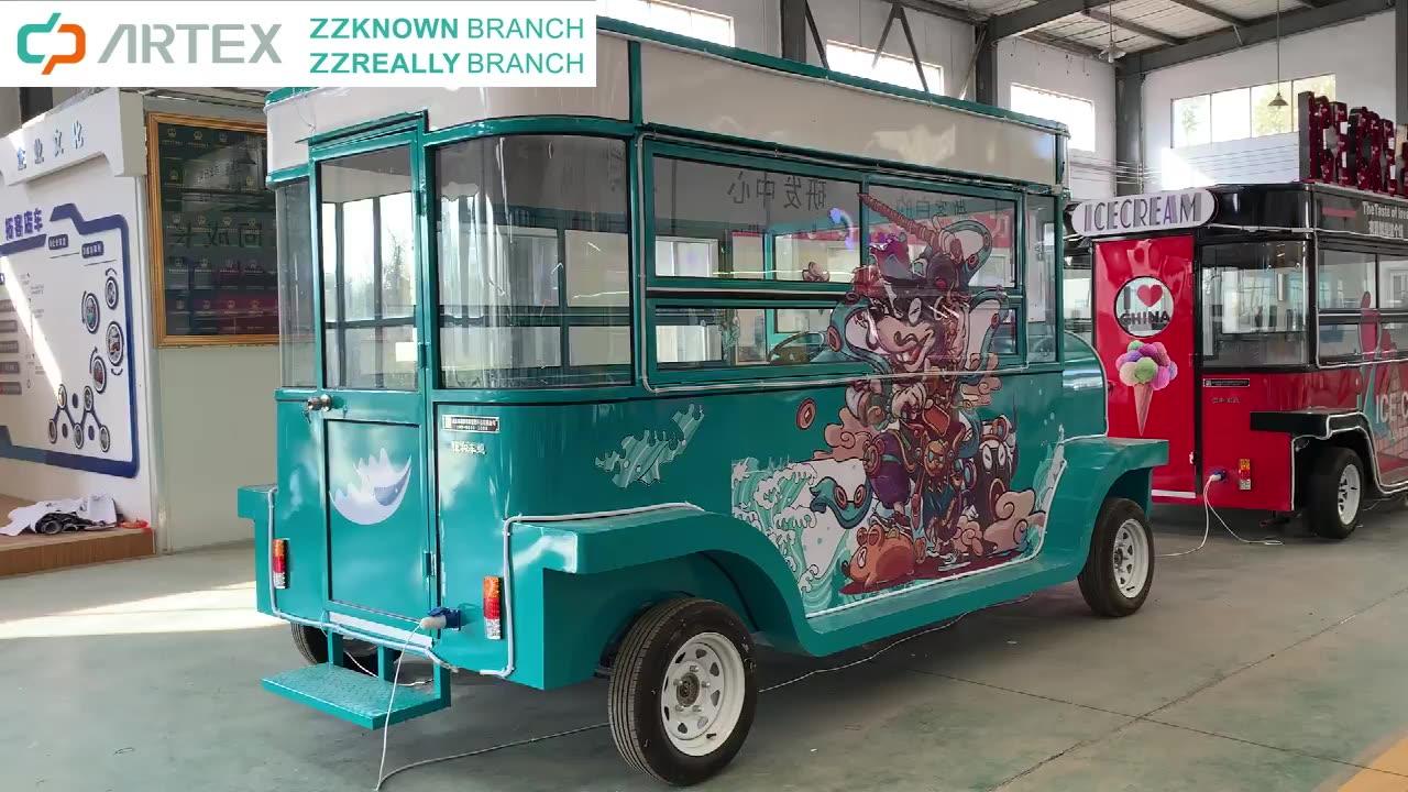 Vintage Hot Dog Chiosco Camion Mobile Merenda All'aperto Vending Carrello Van Fast Food Ristorazione Auto per la Vendita