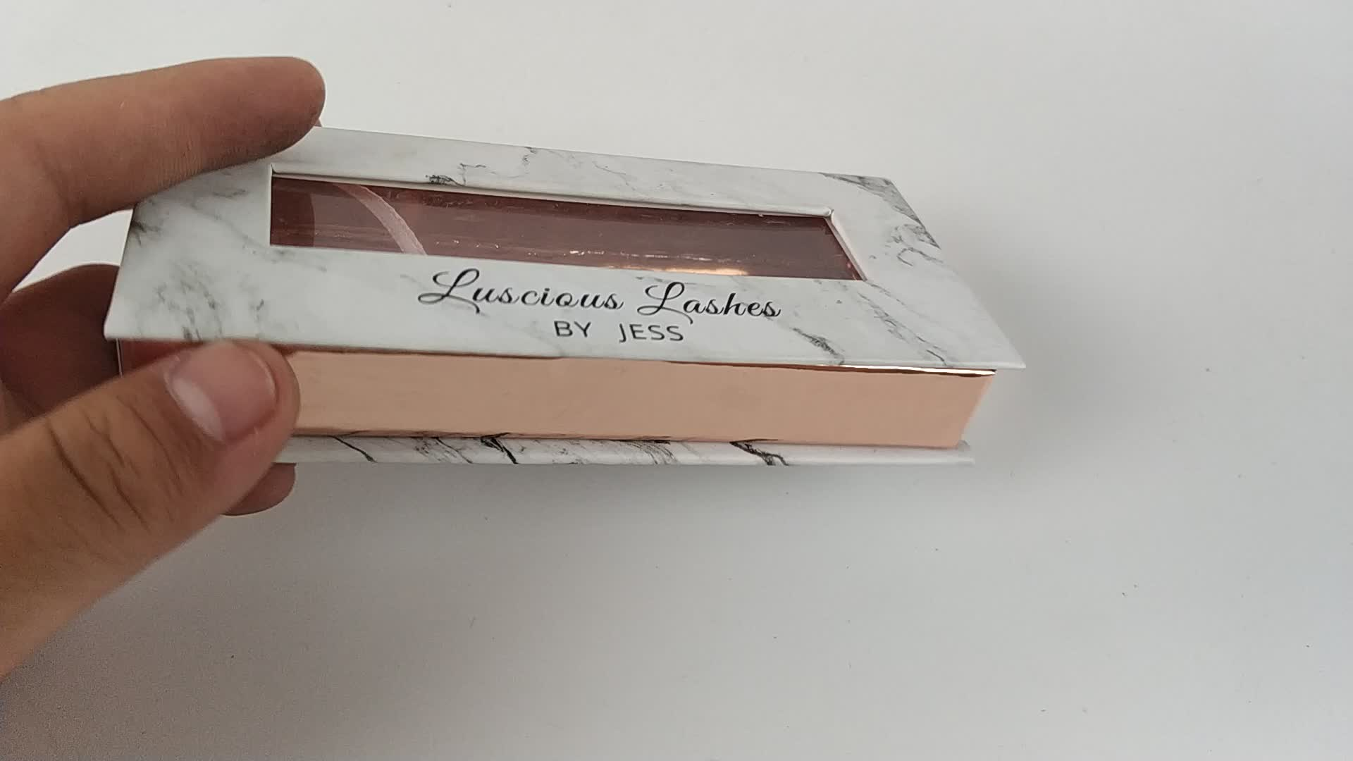 Custom Made Empty False Eyelash Packaging Box / 3d Mink Eyelashes Packaging Box