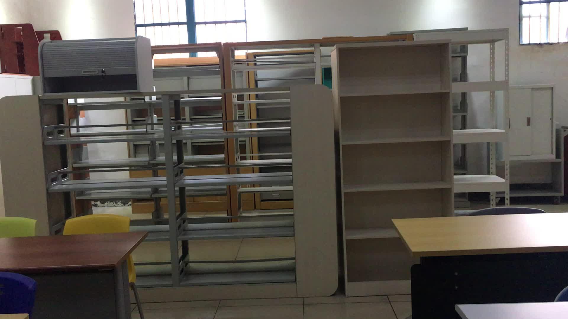 Bibliotheek boekenplanken gebruikt, brandwerende houten boekenplank