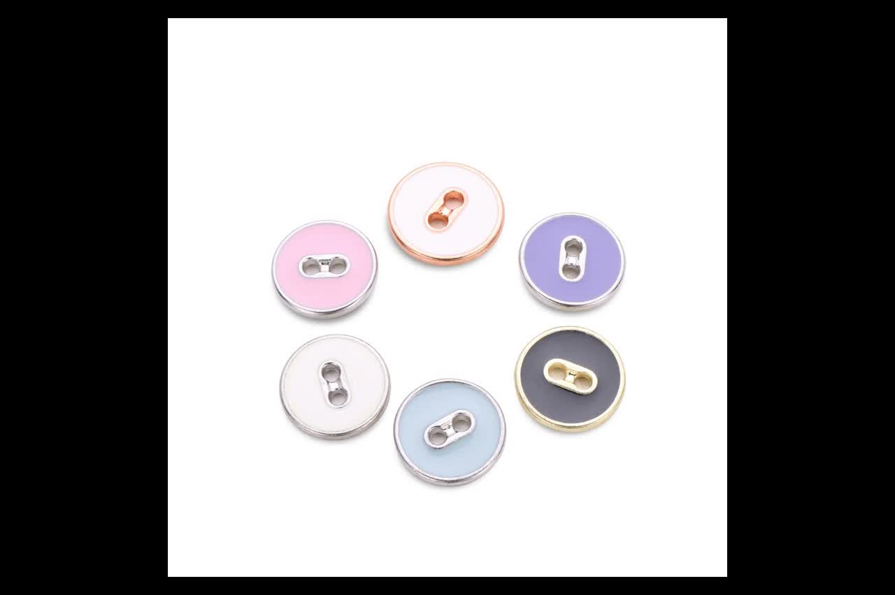 Wholesale Fancy metal sewing shirt button metal 2 hole button for clothes