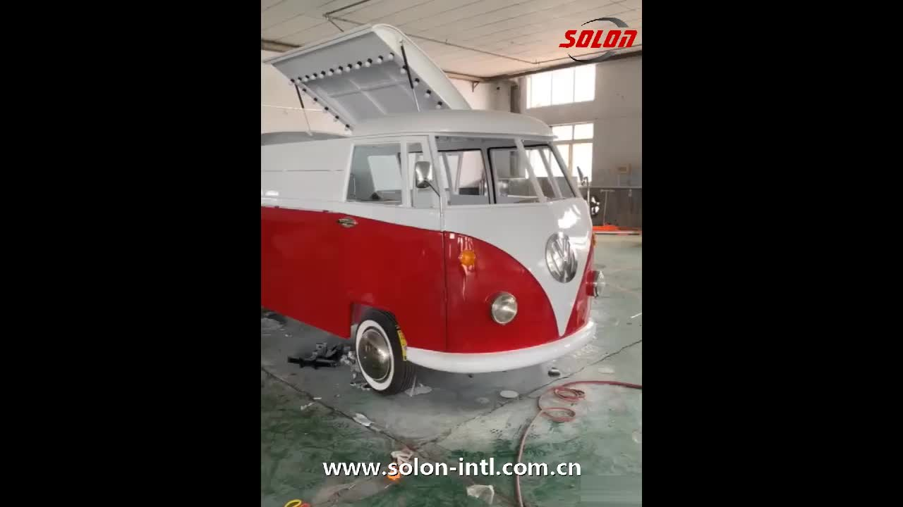 Mobile food truck modern pizza oven food van for sale