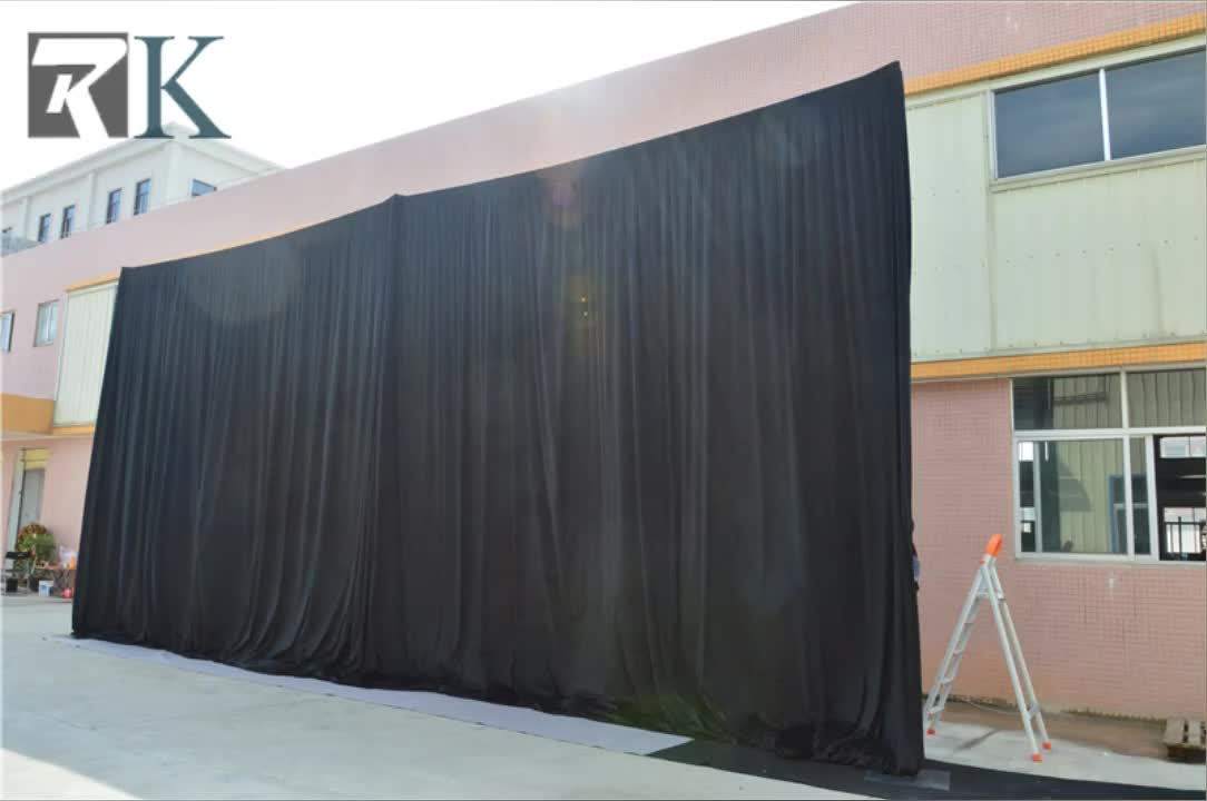 light blocking round pipe and drape kits backdrop curtain room divider