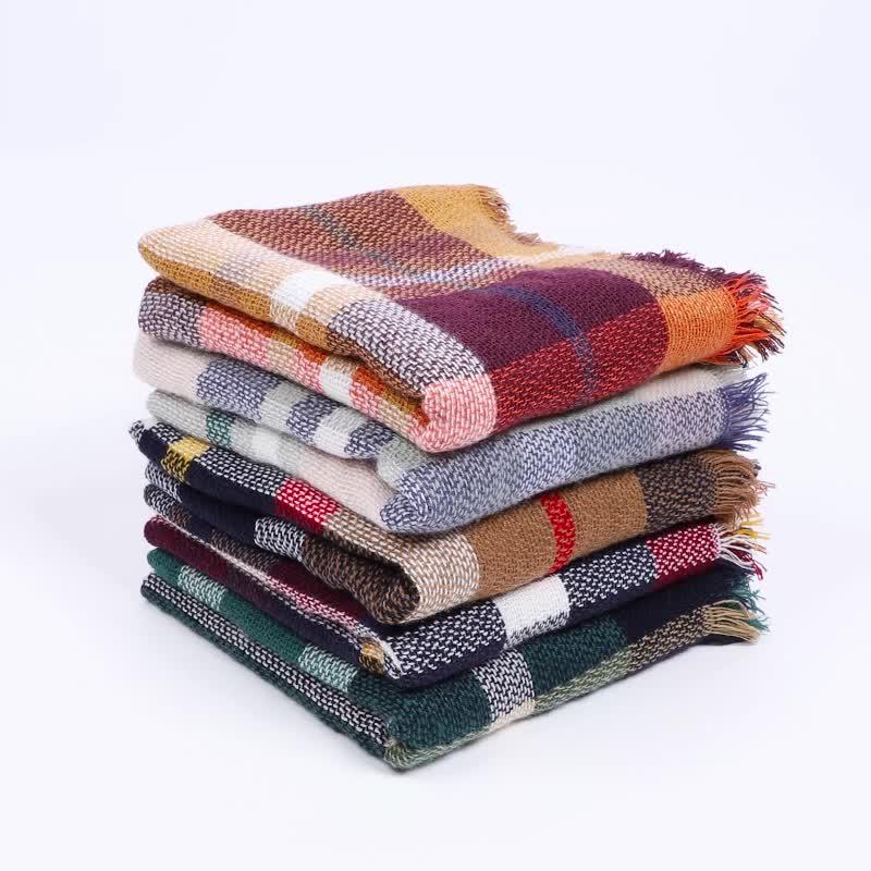 卸売暖かい毛布スカーフ柄パシュミナスカーフショールネックラップ冬のショールスカーフ