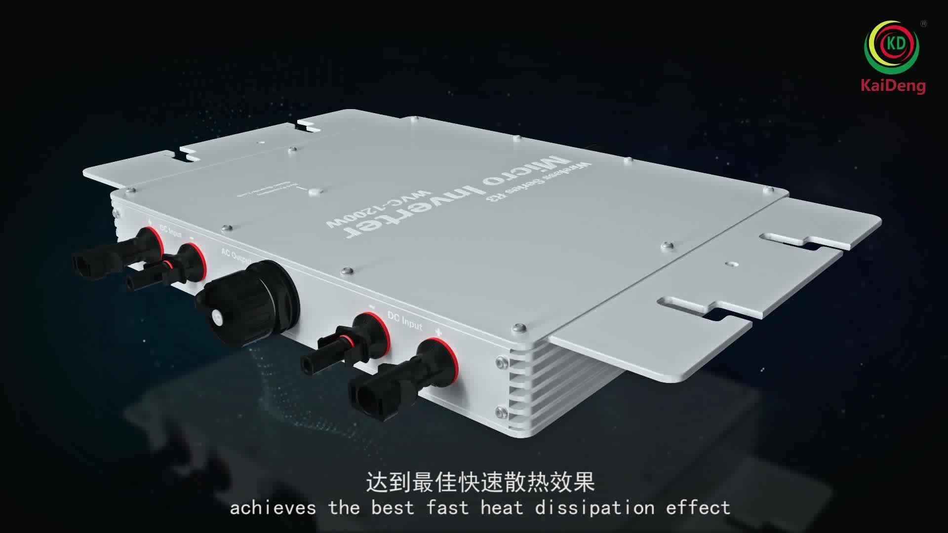 Sistem Tenaga Surya 1200W Smart Microinverter IEC/Etl Sertifikasi
