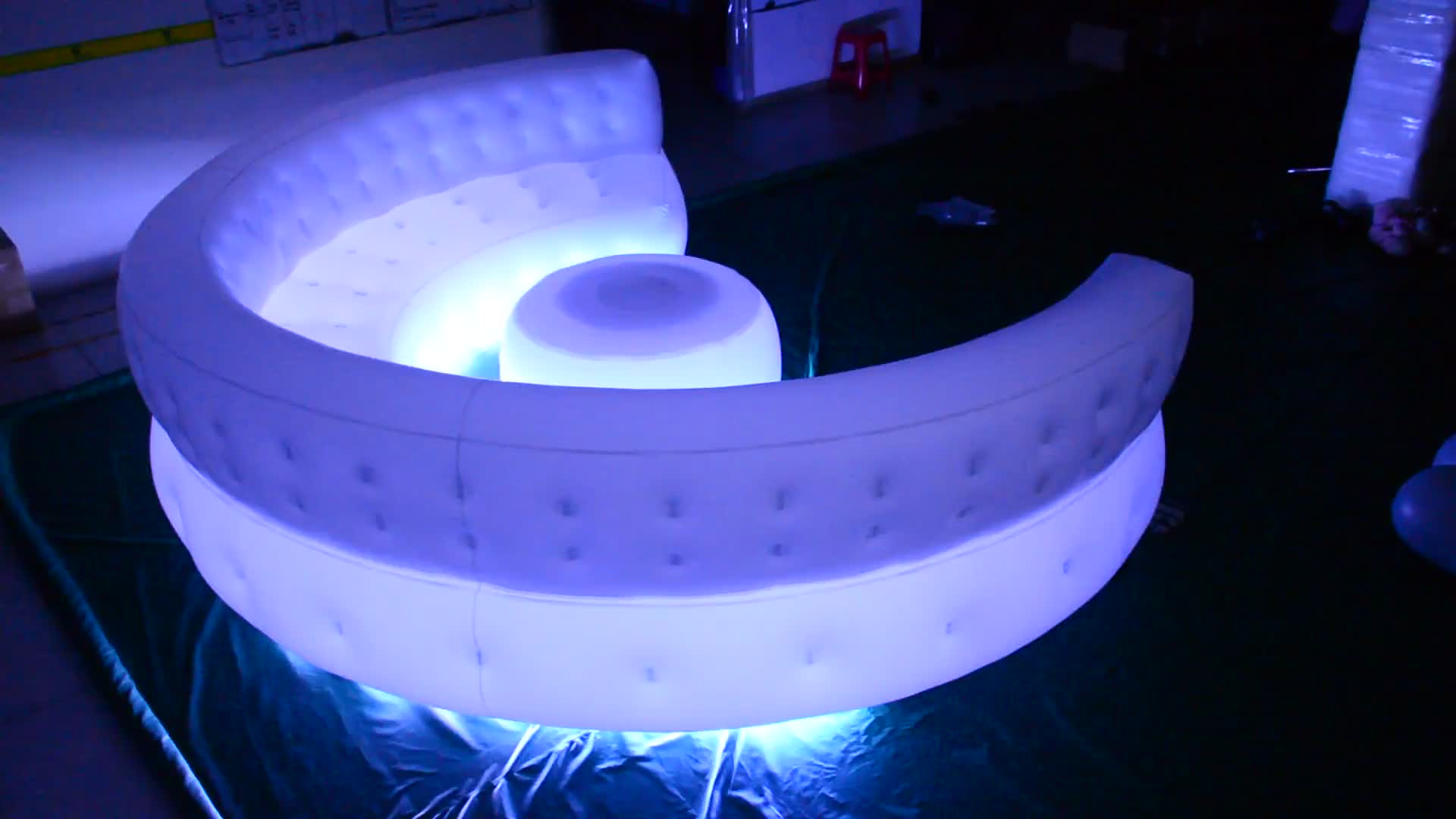 Beautiful Inflatable Sofa Model / Custom Giant Inflatable Sofa For 4m Long