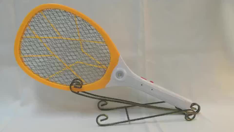 Insect Fly Swatter Electrical With LED Lights Handheld ABS rechargeable electronic mosquito killer racket swatter
