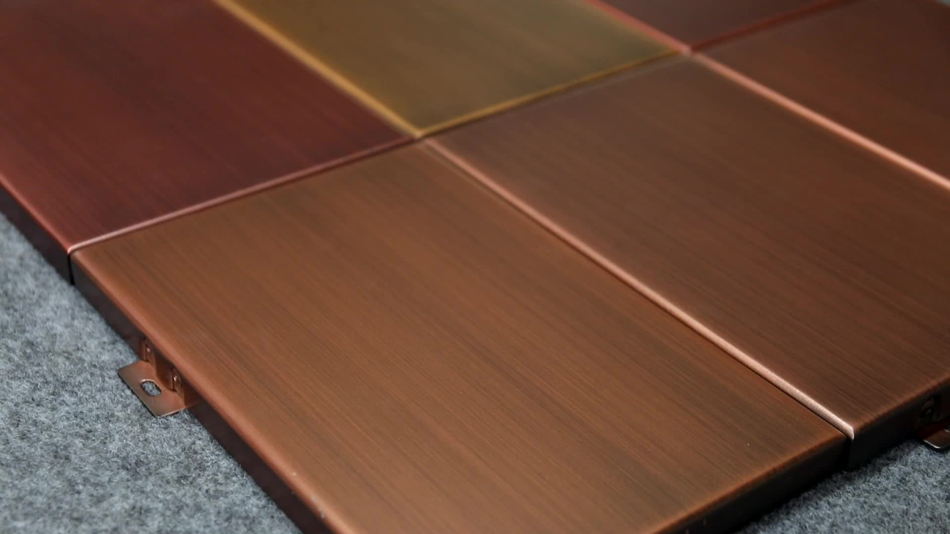 Aluminum Material Metal Wall Facade Panels For Building Decoration Aluminum Perforated Facade Panel