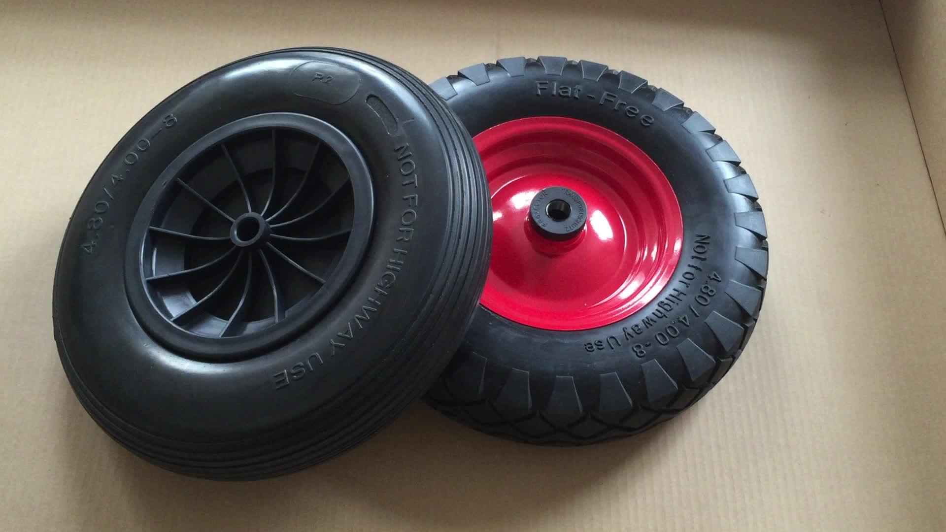 PU Foam Steel Rim Tyre 4.80/4.00-8