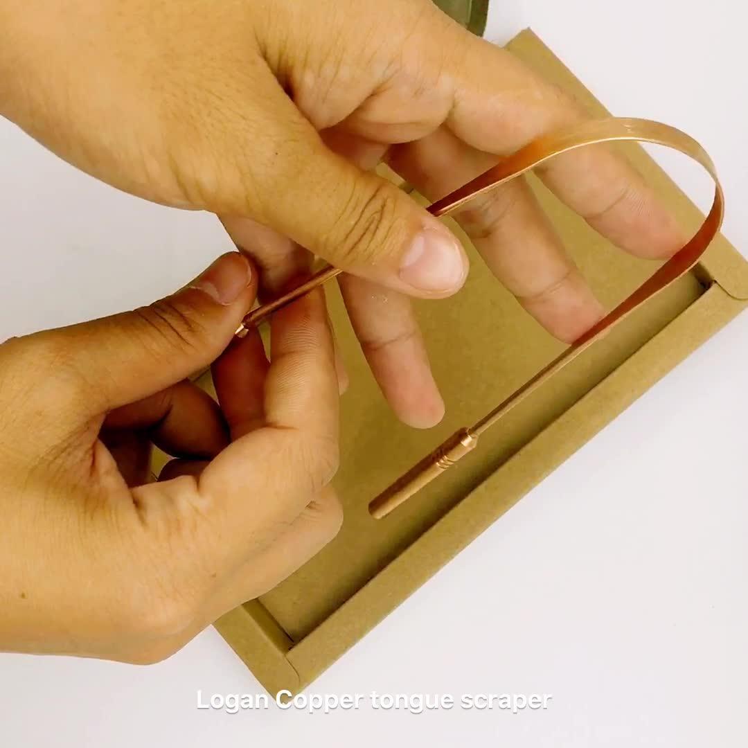 Superieure Kwaliteit Koper Tongreiniger OEM Koper Tong Schraper met Aantrekkelijke Handige Grip