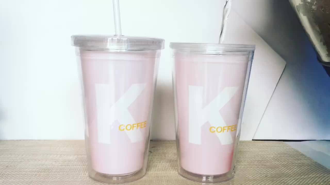 Gadget 2019 plastic water cups custom cold color changing cups marketing gift items promotion custom tumbler with straw