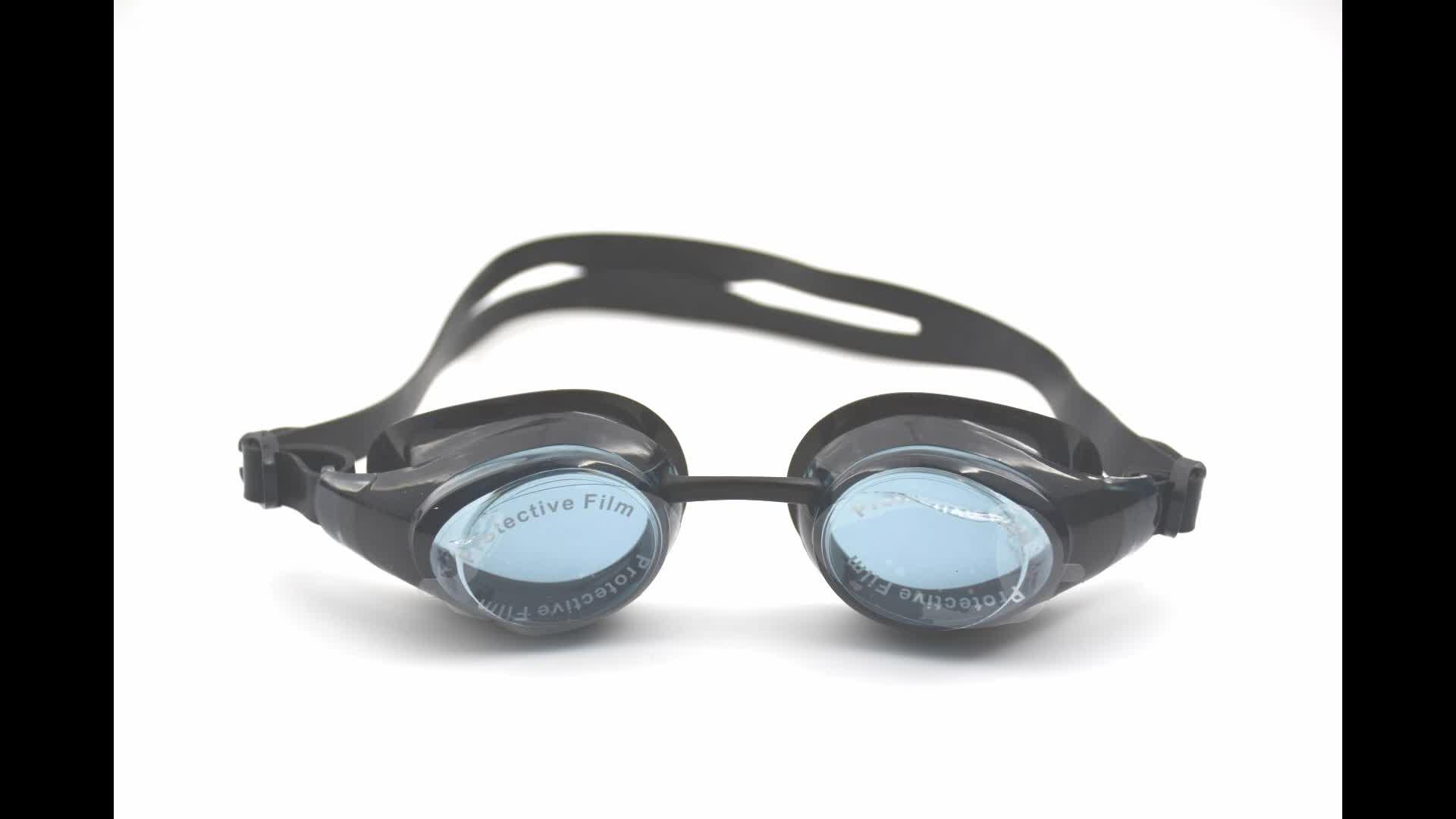 Fashionable anti fog swim goggle strap for pc lenses