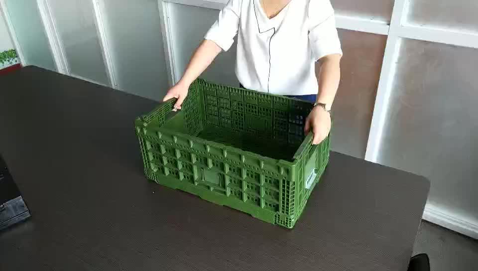 רשת תיל שחור כחול פלסטיק מחורר סל אחסון ארגז סל סל ירקות חקלאי לירקות ופירות