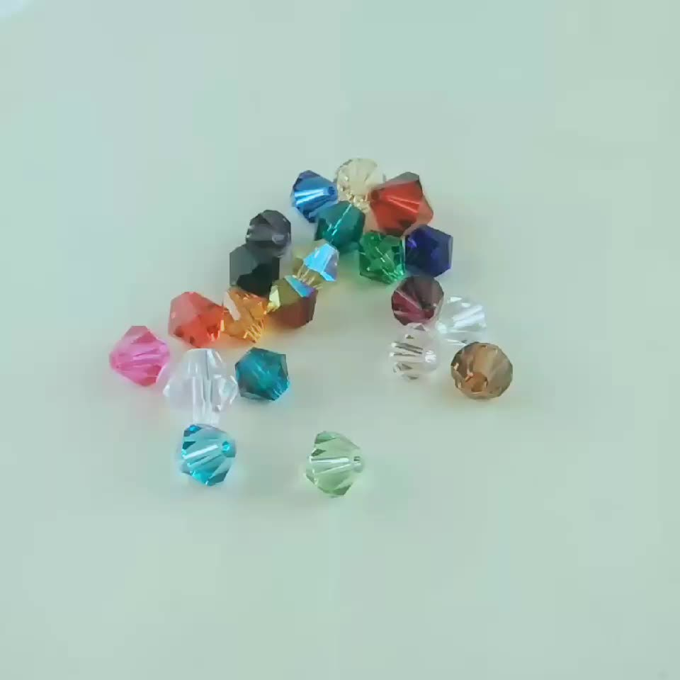 China 3mm Clear AB faceted Glass Bicone Beads Crystal Beads for Jewelry Making
