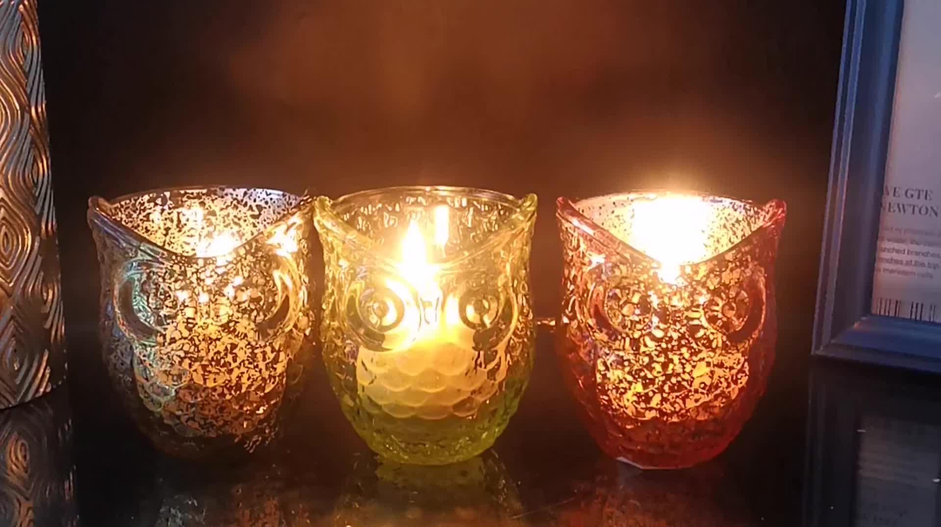 Modern Tasarım Şeffaf cam vative Ev Dekorasyonu mum lamba Fener Yıldız Tealight cam mumluklar