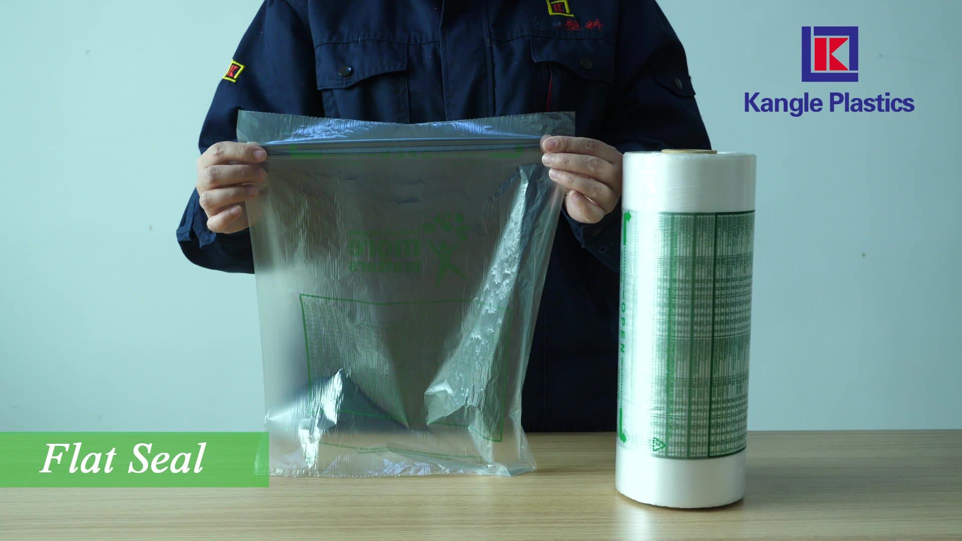 HDPE özel baskılı plastik üretmek çanta rulo