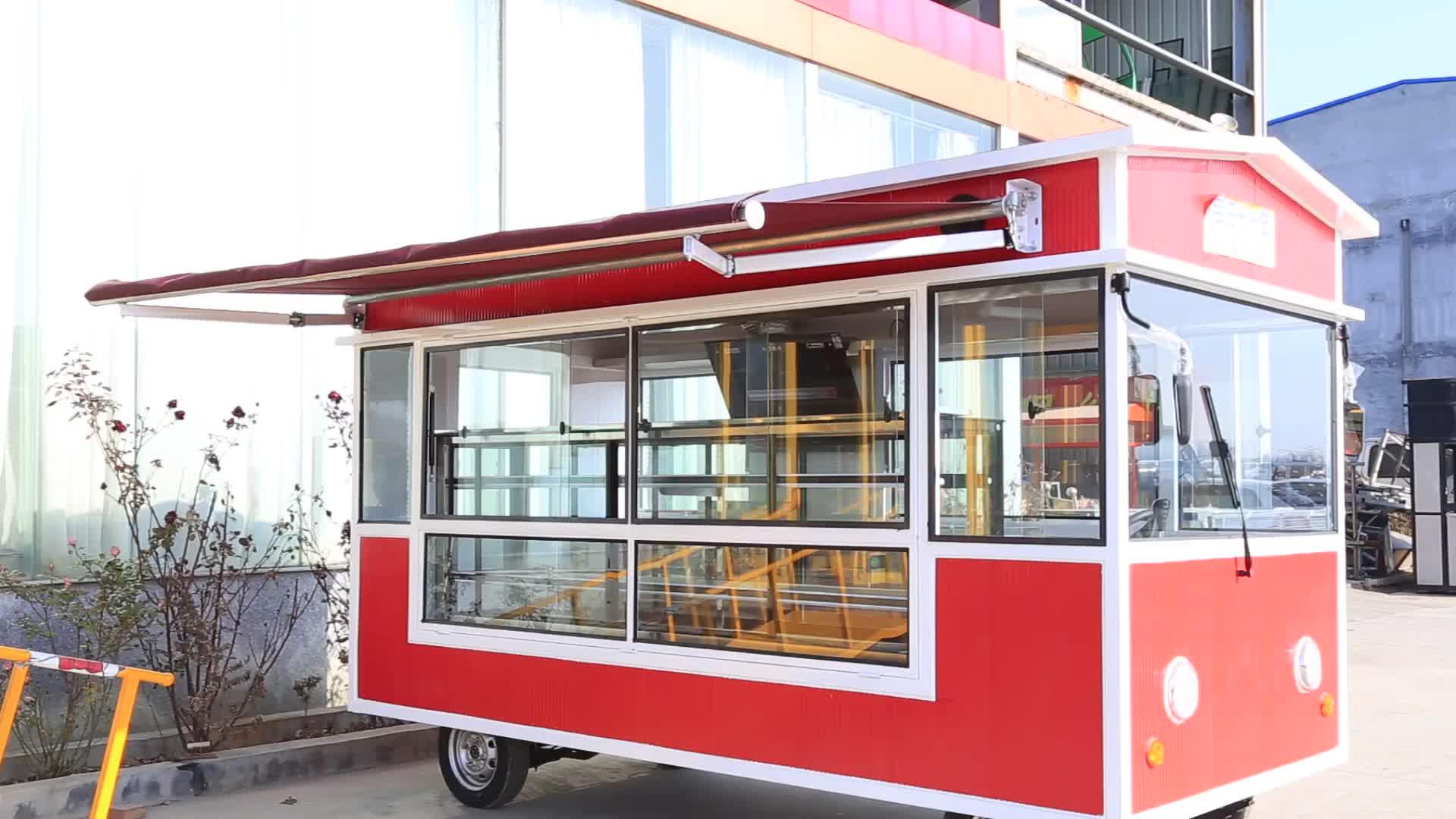 नई सड़क खाद्य वेंडिंग गाड़ी/इलेक्ट्रिक VW खाद्य ट्रक/गर्म कुत्ते बर्फ क्रीम हैमबर्गर मोबाइल खाद्य ट्रेलर बिक्री