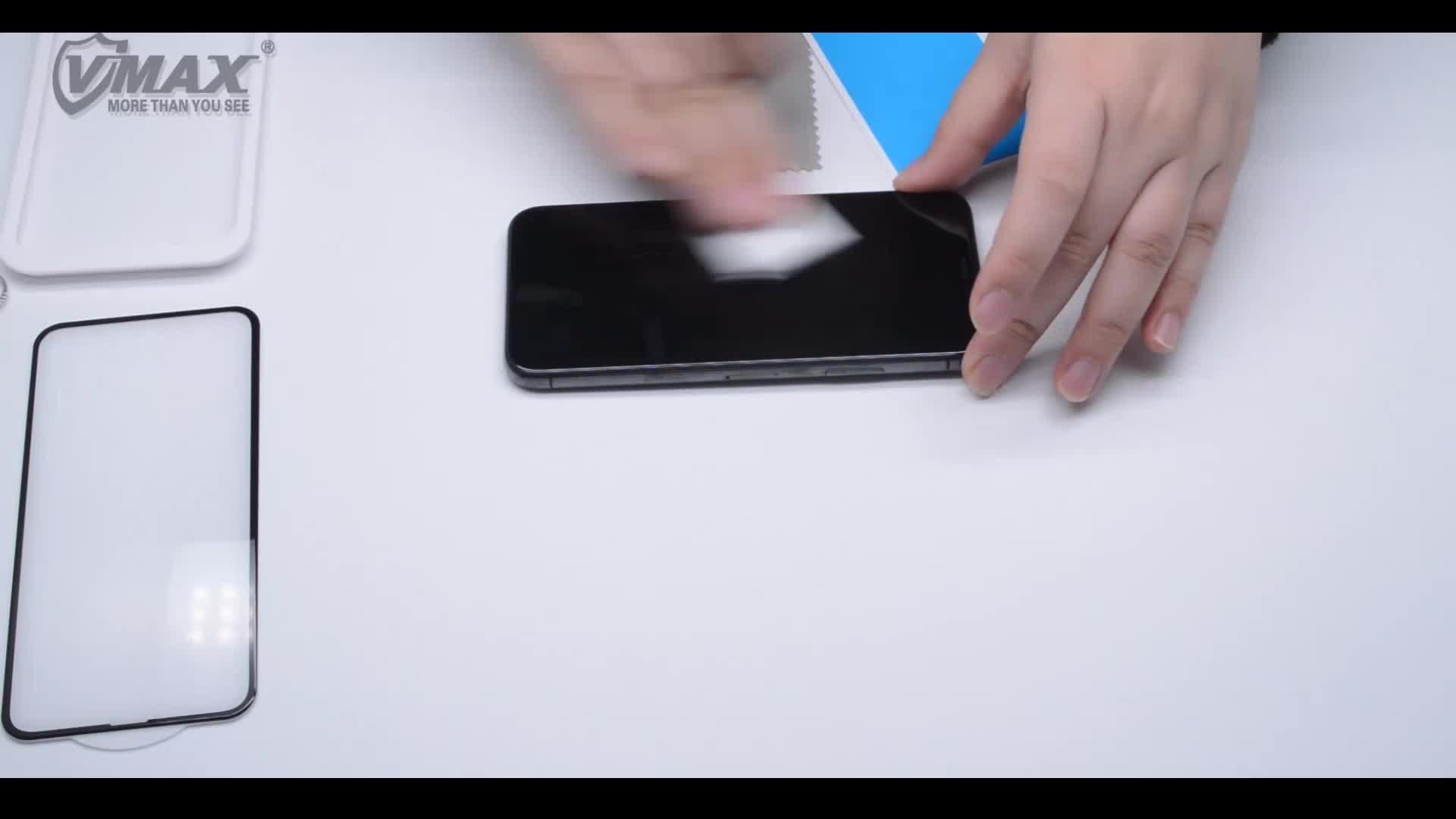 Tempered glass bảo vệ màn hình 9 H 0.33 mét cho iPhone XS XS Max 3D tráng keo mặt sau màn hình bảo vệ