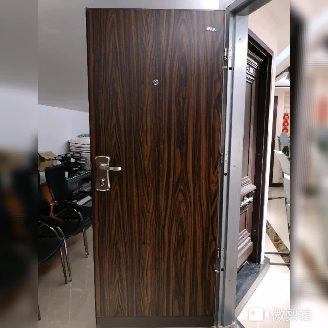 Semi Solid Steel American Door,Paint Finish American Door