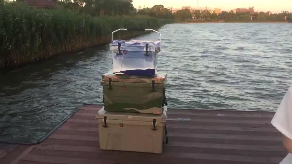 70QT extrema rolando caixa do refrigerador do Gelo No Peito o mais legal com rodas de plástico com rodas
