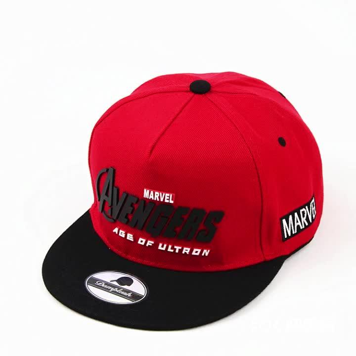 Custom Hennep Twee Tone Gedrukt Birm Snapback Cap Rubber Patch Of Pvc Logo Hip Hop Baseball Hoed Ingericht Cap