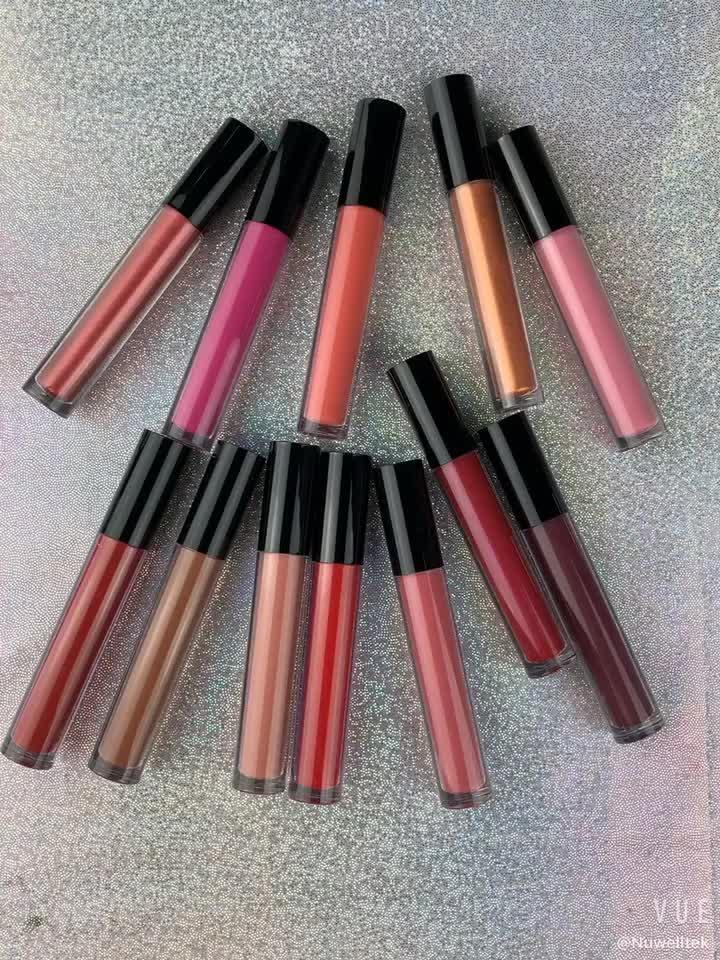 Private Label 2 in 1 Nach Lipkit OEM Großhandel 12 Farben Lip Bleistift Wasserdicht Matte Flüssigkeit Lippenstift Set