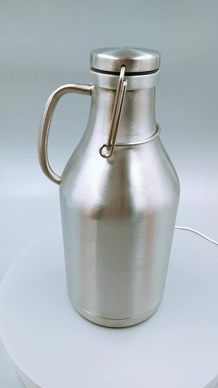 Insulated Stainless Steel Beer Growler/Water Bottle