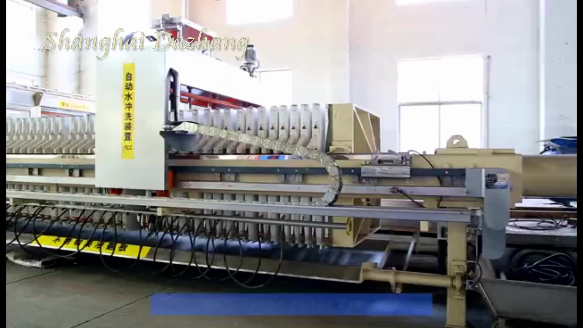 Shanghai Dazhang Hoge Druk Filtering Machine Automatische Membraan Filter Pers Fabrikant