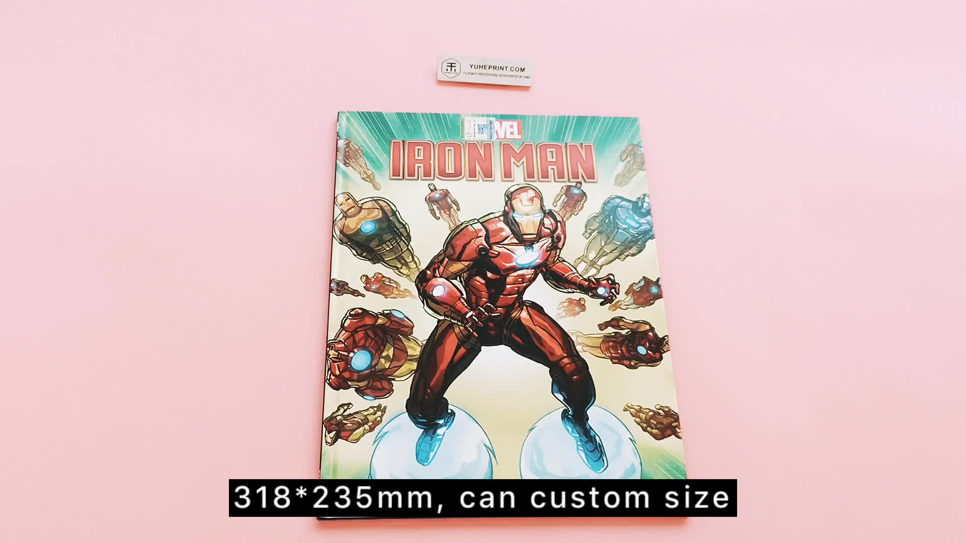 Unique customized low minimum order factory supplier kid comic book with glossy lamination