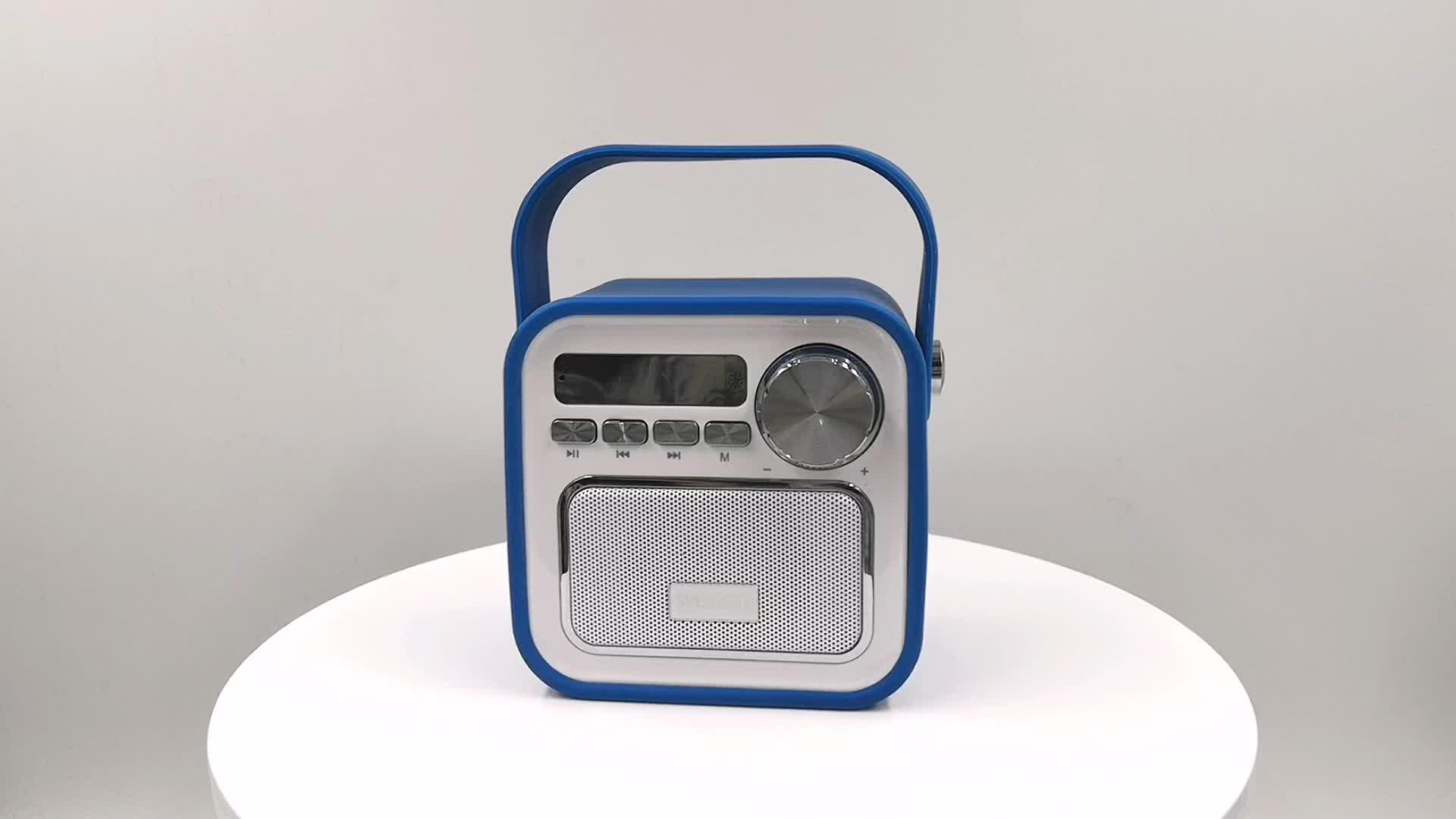 Outdoor Box Wireless Fm Bluetooth Remote Speakers Usb Two Way Portable Microphone Mini Digital Super Bass Speaker With Dab Radio