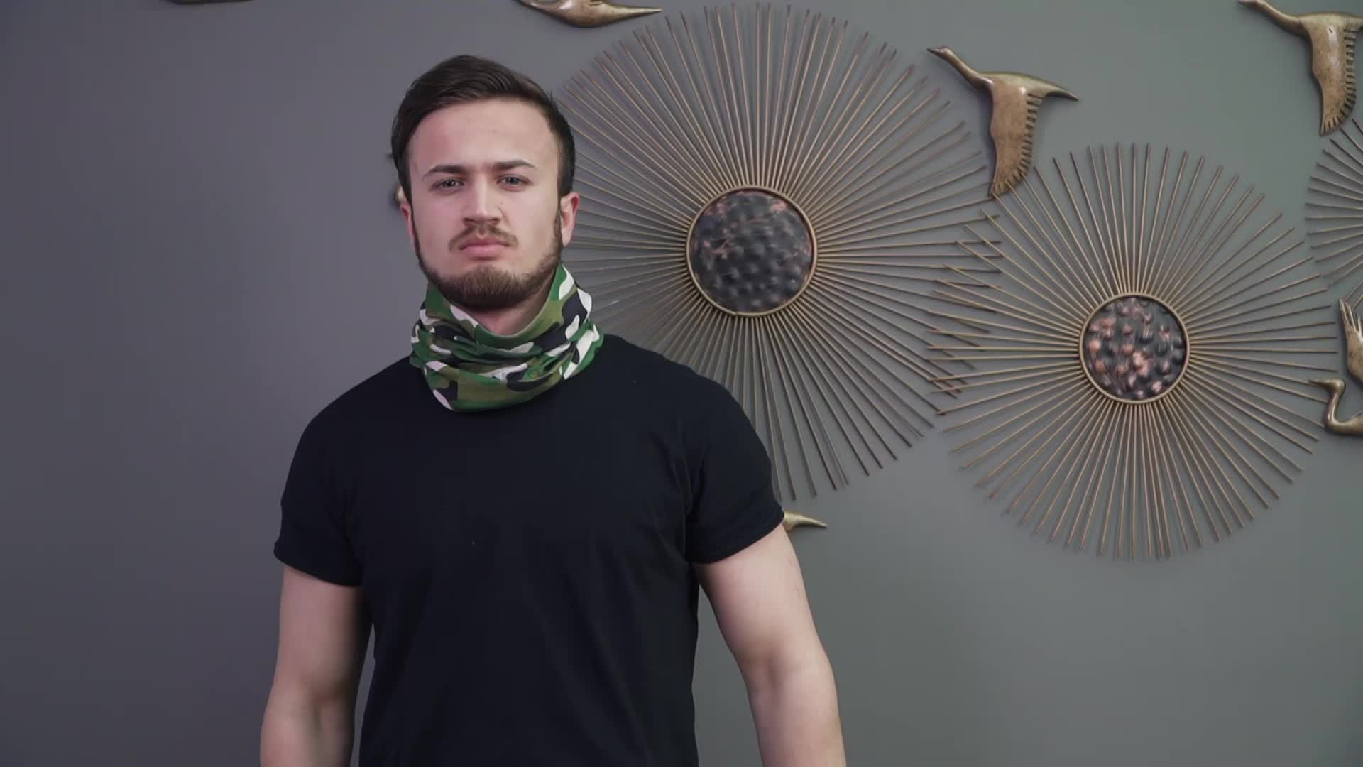Ginzeal Özelleştirilmiş Moda Erkek Kafa Bandı Dikişsiz Bandana