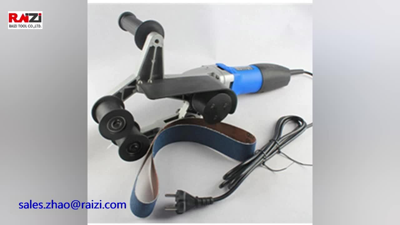 Raizi 220V Handheld elektrische edelstahl rohr rohr gürtel sander/grinder/polierer mit schleifen gürtel