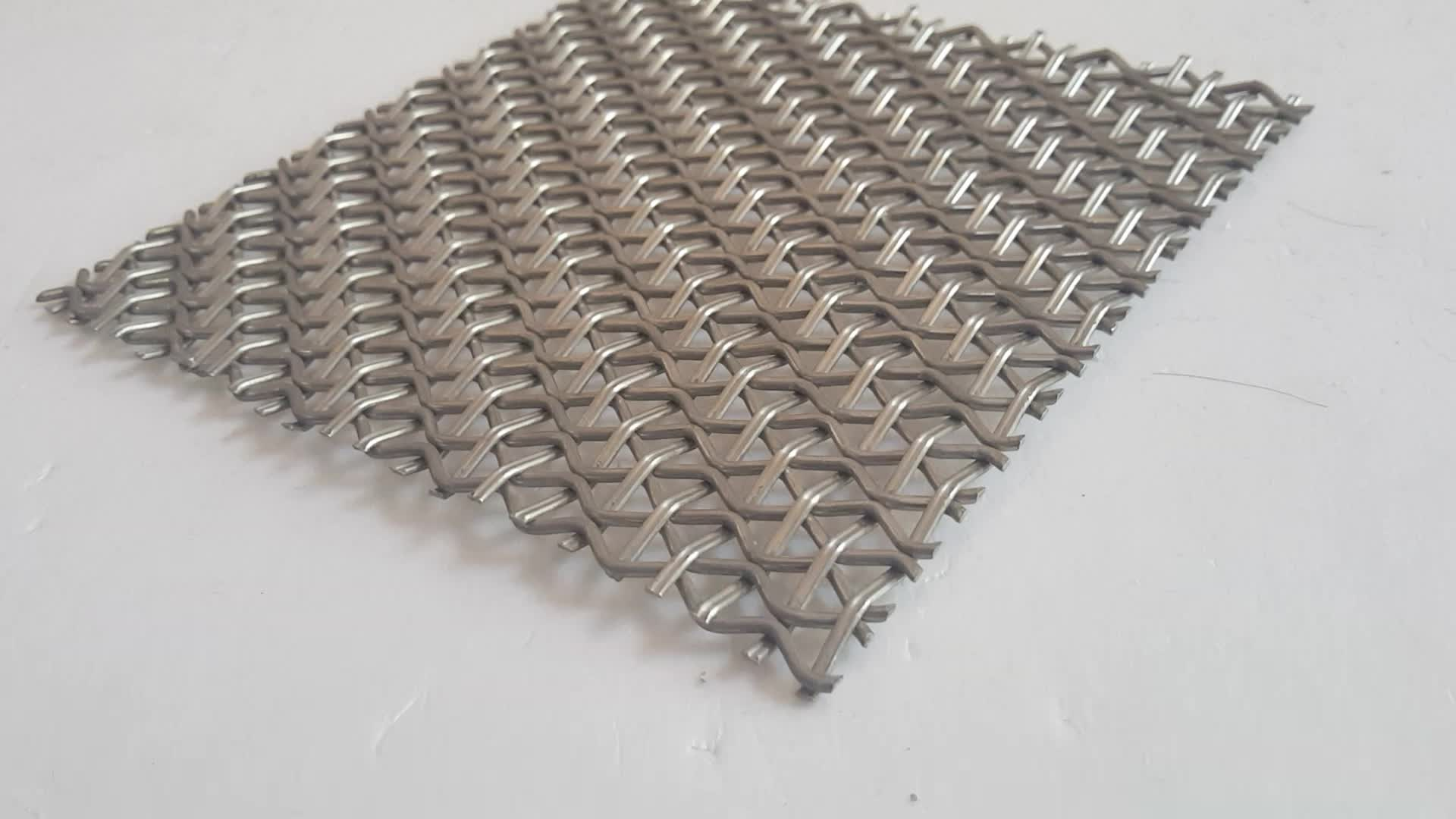 Antique Copper Plated Stainless Steel Woven Decorative Wire Mesh Used For Architecture Ceilings
